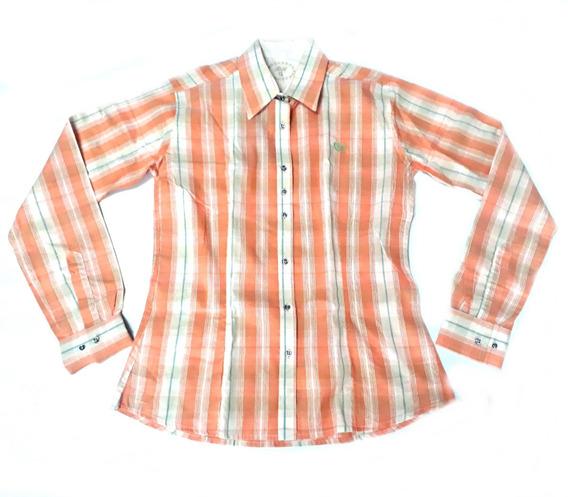 Camisa Camisete Feminina Manga Longa Rodeo Xadrez Country