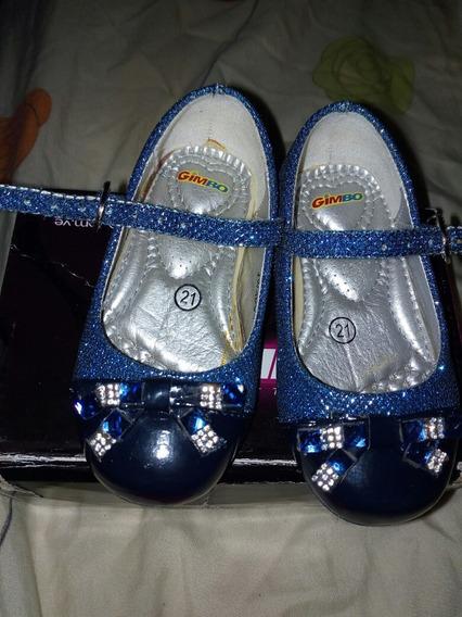 Zapatos De Niña Azul