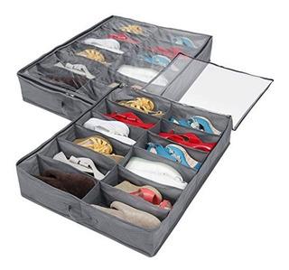 Organizador De Zapatos Bajo Cama 12 Espacios - Regalos Ámbar