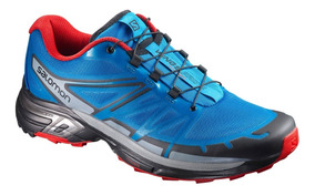 Tenis Hombre Trail Running Salomon Correr Wings Pro 2 Azul