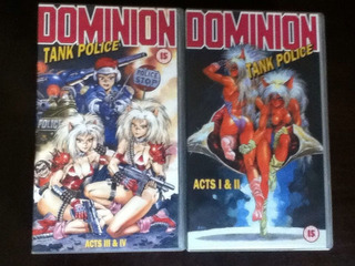 Dominion Tank Police Vhs Tapes 1 & 2 Acts 1 - 4 Anime!!!
