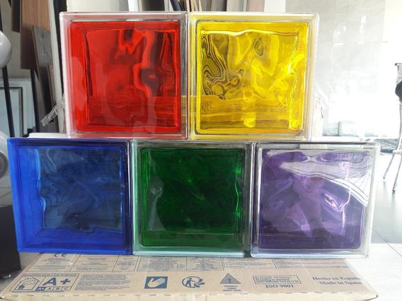Paquete De 4 Vitroblock 19x19 Varios Colores