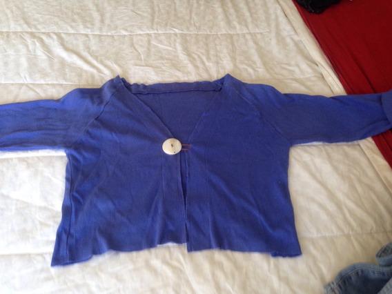Remera Diseño O Saquito Verano Color Azul Violáceo