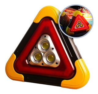 Triangulo Reflejante Con Luz Led De Emergencia Recargable