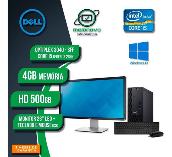 Dell Optiplex 3040 Sff - I5 3.2ghz 4gb 500gb + Monitor 23