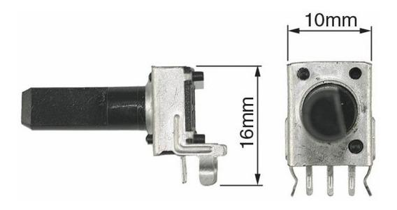 10un Potenciometro Mini Linear 180 Graus 5kb 3 Terminais