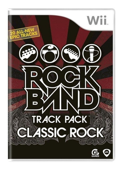 Jogo Midia Fisica Rock Band Track Pack Classic Rock Para Wii