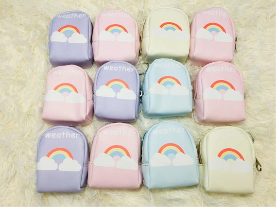 Monedero Arco Iris Colores Infantil Souvenir Pack X 12 Uni