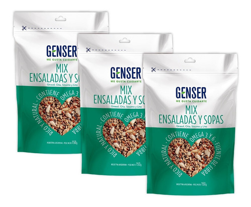 Mix Semillas Ensaladas Y Sopas. Genser. Pack X 3
