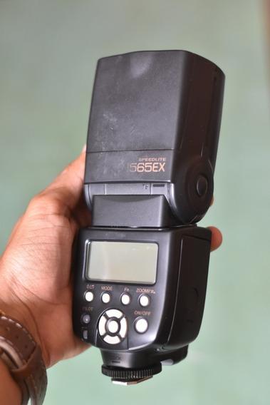 Flash Yongnuo Yn-565ex - Nikon + 4 Pilhas Eneloop Com Carre