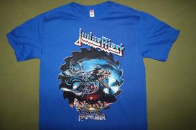 Gusanobass Playera Rock Metal Judas Priest Painkiller Azul
