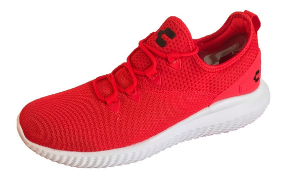 Tenis Charly 1029429 Hombre Rojo Casual Deportivo Textil