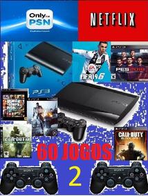 Playstation 3 Super Slim 250 Gb+ 2 Controles Ja Com Gta 5