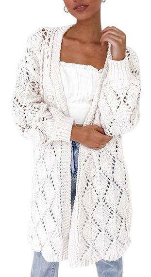 Mujer Chaqueta Cárdigan Suéter Kimono Crochet Moda Juvenil