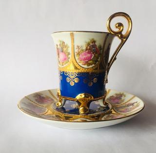 Tacita De Colección En Porcelana Alemana Bavaria Marca Jwk