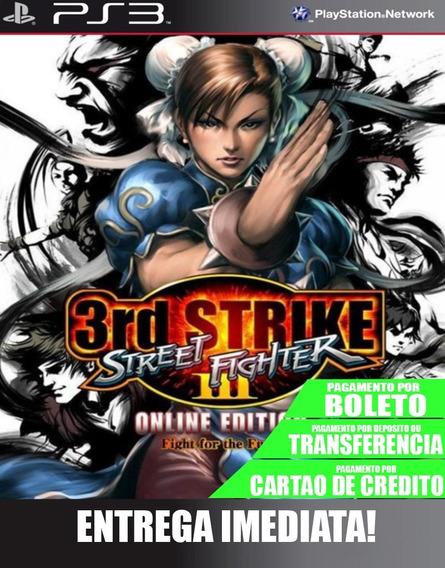 Street Fighter 3 Third Strike - Ps3 - Midia Digital