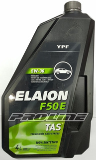 Ypf Elaion F50e 5w30 Ford Lubricante Aceite Sintetico 4lt