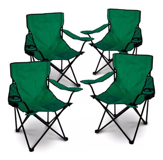 Silla Sillon Camping Playa Plegable Director 4 Unidades
