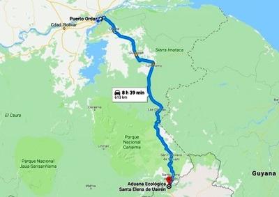 Traslado Pto. Ordaz A Santa Elena Frontera Boa Vista Brasil