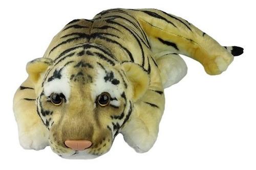 Imagem 1 de 3 de Tigre De Pelúcia Deitado Filhote Fofy Pequeno - Lindo!!!