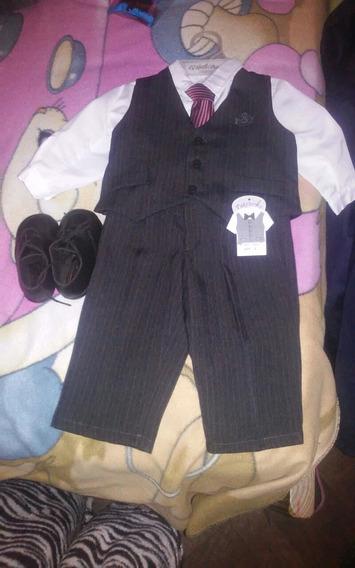 Pantalón,camisa,chaleco,corbata Y Zapatos Nuevos!