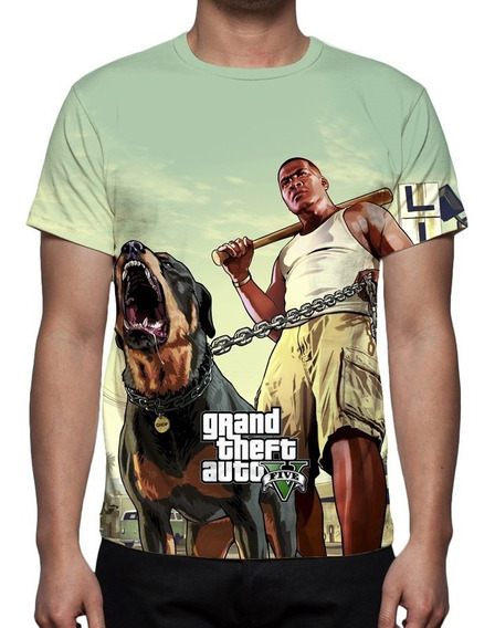 Camiseta Game Gta 5 V Mod 02 - Frete Grátis
