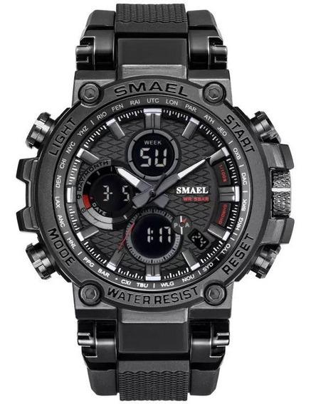 Relógio Masculino Smael 1803 Dual Display Analógico Digital