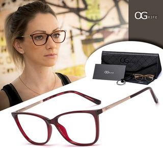 Armação Oculos Ogrife Og 995-c Feminino Com Lente Sem Grau