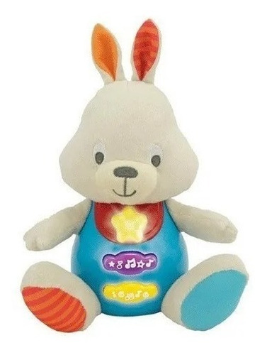 Imagen 1 de 2 de Conejo Soft Canta Y Aprende Conmigo Win Fun 0687