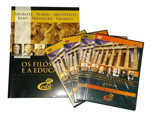 Box Dvd Os Filósofos Educação 1 + Brinde