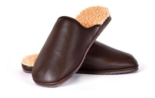 Pantuflas Hombre-  Cómodos Con Felpa. Suela Antideslizante