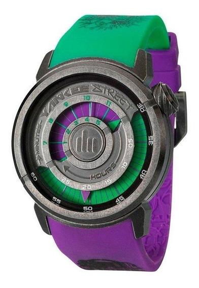 Relógio Yankee Street Masculino - Ys30158g - Cor Verde/roxo