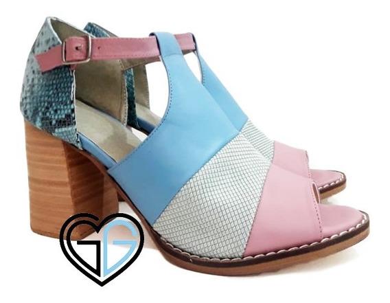 Sandalias Mujer Cuero Vacuno Diseños Exclusivos