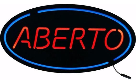 Luminoso Placa Led Open Aberto Bar