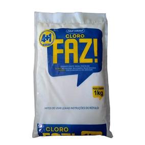 Cloro Faz 4+1 1 Kg Hidroazul Kit Com 7 Unidades Super Eficaz
