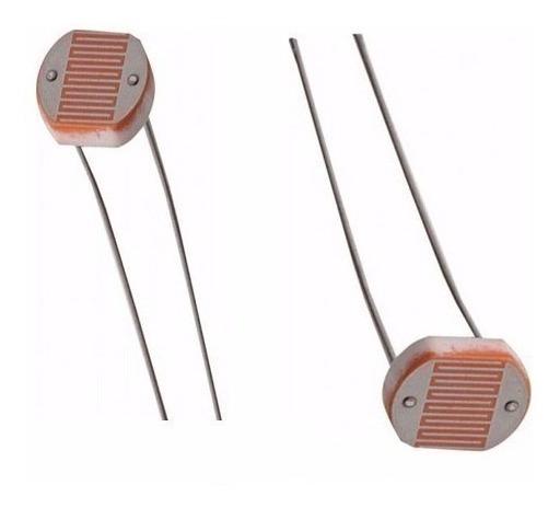 5 Unidades Ldr Resistor Foto Sensível Original 5mm
