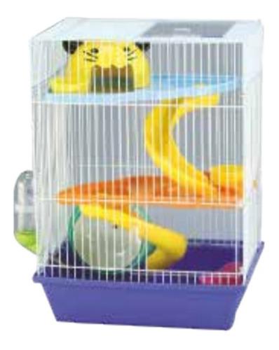 Jaula 3 Pisos Hamster (incluye Accesorios) Envío Gratis
