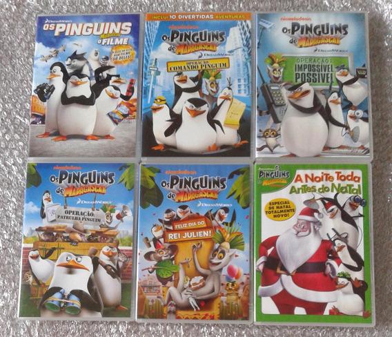 Coleção - Os Pinguins De Madagascar - 6 Dvds - Dublados
