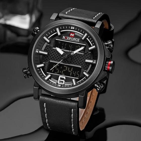Relógio Masculino Esportivo Militar Naviforce 9135 Original
