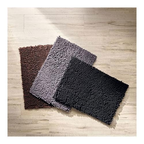 Imagen 1 de 3 de Tapete Para Baño Shaggy 43x61 Cm Elite Gris