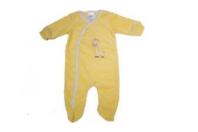 Macacão Unissex Girafinha - Nuvem Azul-amarelo-p