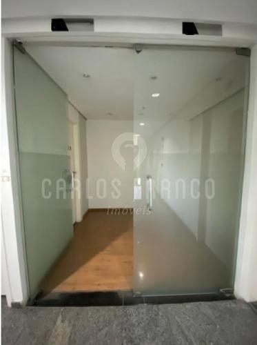 Imagem 1 de 15 de Conj. Comercial De78 M², Com Ar Cond.,  3 Salas, Recepção, 3 Banheiros, Copa, 2 Vagas - Vila Olímpia - Cf69221