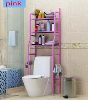 Mueble. Organizador Wc Baño Repisas Taza Metálico Rack