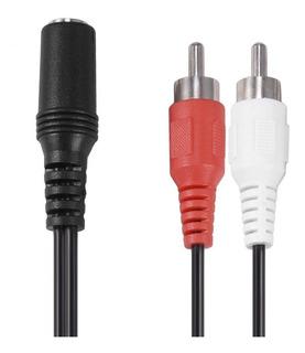 Cable Auxiliar De Audio Estéreo Hembra De 3,5 Mm A 2 Rca Ma