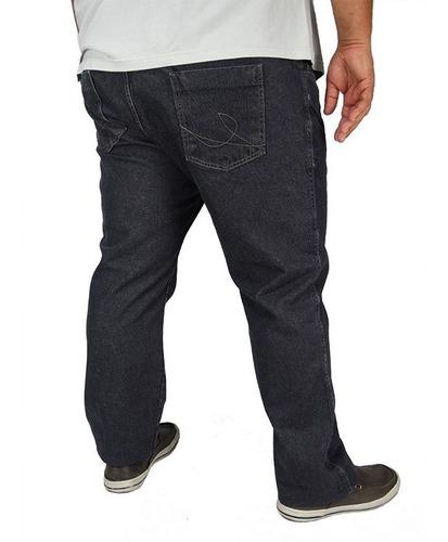 Imagem 1 de 4 de Calça Jeans Masculina Tamanho Grande Plus Size Até O Nº 68
