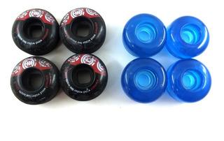 Jogo Kit 8 Roda Skate Landyachtz Element Cruiser 52mm 101a Azul Transparente 50mm Formula Dura Spf Uretano A11829