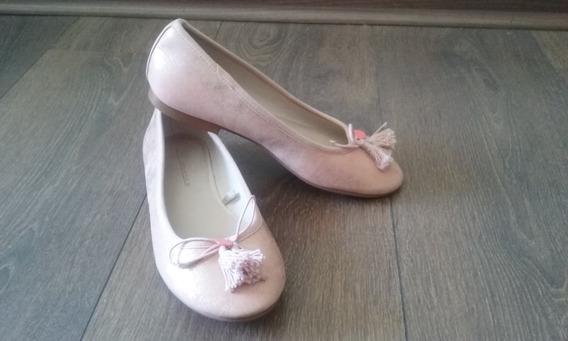 Zapatos De Niña Tipo Ballerina Color Rosa Pálido Nº 32