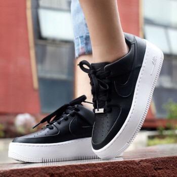 Nike Air Force Con Plataforma Negra