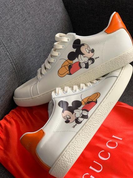 Tenis Gucci Ace Edición Mickey Mouse