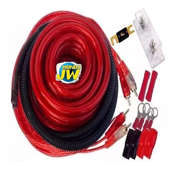 Kit De Cable 4 Gauge Real. Para Potencias Hasta 5000 W Jw